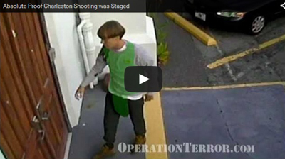 Charleston shooting staged