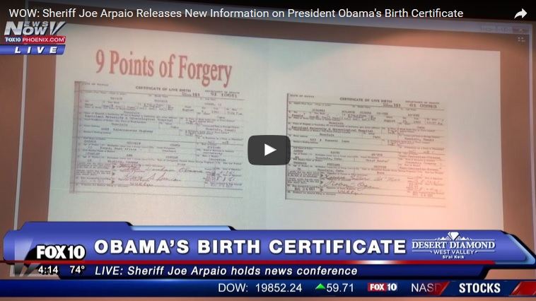 Obama birth certificate fraud